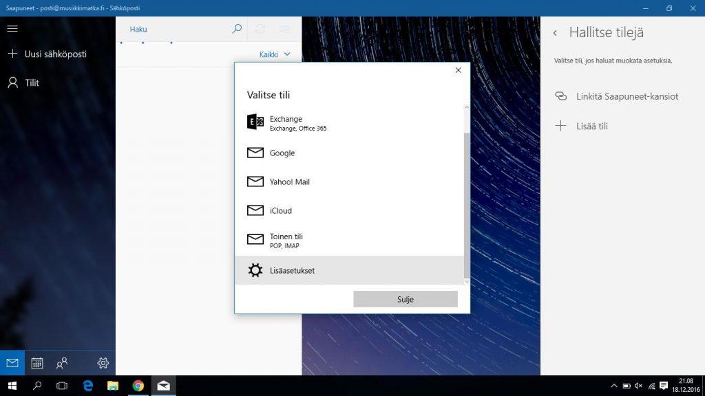 Windows Sähköposti